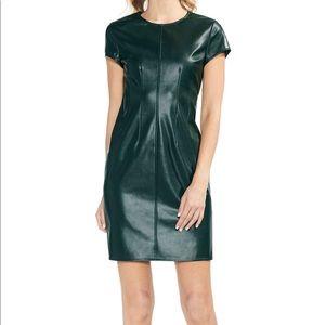 Vince Camuto Vegan Leather Hunter Green Dress 12